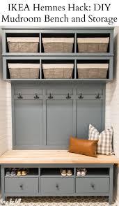 IKEA Hemnes Hack: <b>DIY Mudroom</b> Bench and Storage - <b>House</b> by Hoff