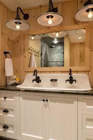 washstand bathroom pine: rustic pine guest bathroom crisp architects