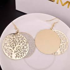 <b>New Gold</b> / <b>Silver</b>/Black <b>Color</b> Leaves Earrings Long Ladies Multi ...