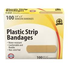 <b>Plastic Strip</b> Bandage, 7.5 x 2cm, 100/Box - <b>Adhesive Bandages</b> - St ...