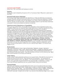 curriculum vitae personal statement samples curriculum vitae personal statement samples resumecareer info curriculum vitae personal statement samples personal statements