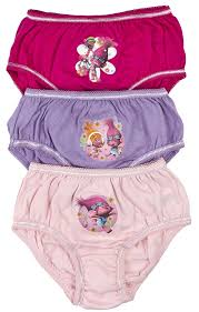 3 pack girls trolls underwear pants briefs 2 3 years assorted 3 pack girls trolls underwear pants briefs 2 3 years assorted amazon co uk clothing