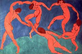 Cuadro La danza de Matisse utilizado en la entrada Diferentes formas de plantear un cuadro en Picasso y Matisse  en donde se comentan las distintas formas de empezar y acabar una obra en el trabajo de Picasso y en el de Matisse. Y como esto deriva de diferentes formas de entender el arte. Escrito por Juan Sánchez Sotelo para la Academia de dibujo y pintura Artistas6 de Madrid. Clases y cursos para aprender a dibujar y pintar. Clases de arte. Análisis de  cuadros.