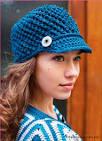 Женская кепка вязанная крючком