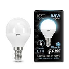 <b>Лампа Gauss LED Globe</b> E14 6.5W 4100K - Gauss ...