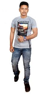 Buy Summer Collection <b>Men's Printed Round Neck</b> T-Shirt at ...