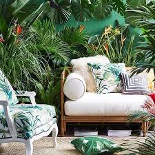 diy small tropical patio iinsta friends get a first look at our new collection of palm prints r