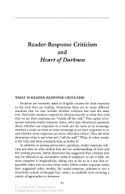 reader response criticism and heart of darkness springer inside