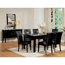 3304 7 black wood dining chairs black wood dining room