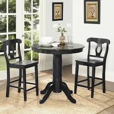 dining chairs foter hemstead wood dark oak small round table and dark grey stools for tiny counter height dining