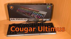 Обзор <b>игровой клавиатуры Cougar Ultimus</b> - YouTube