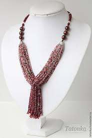 [ Good idea for using up older <b>seed beads</b>. ]. | Beaded <b>necklace</b> ...