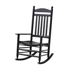 bradley black slat patio rocking chair black and white outdoor furniture