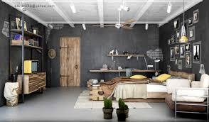 bed living room open