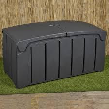 shed waterproof chest 300 litre <b>garden storage box</b> utility box plastic