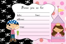 princess and pirate invitation templates ctsfashion com princess birthday invitation girl pirate boy by pinkthecat