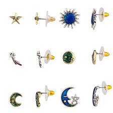 Lux Accessories Gold Tone Celetial Stars Crescent ... - Amazon.com