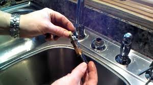 Changing A Kitchen Faucet Moen Kitchen Faucet 1225 Cartridge Repair Or Replacement Youtube