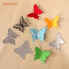 <b>DUOFEN METAL CUTTING DIES</b> 010087 3pcs small butterflies ...