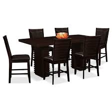 size dining room contemporary counter: paragon counter height table and  chairs brown