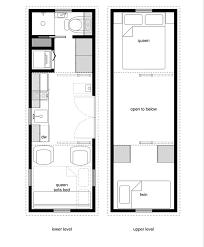Tiny House Floor Plans   Lower Level Beds   Tiny House Design    x
