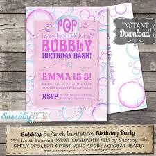 bubbles invitation instant editable printable 🔎zoom