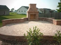outdoor fireplace paver patio: outdoor fireplace elevated paver patio with outdoor fireplace appleton wisconsin