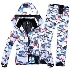 JIAKENVDE <b>Winter</b> Impression Suit <b>Ski</b> Jacket + <b>Ski</b> Pants <b>Female</b> ...