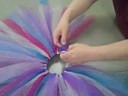 How to Tie <b>Tulle</b> to Make a <b>Tulle Skirt</b> (<b>Tutu</b>) - YouTube