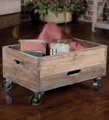 <b>Reclaimed</b> Fir Wood Rolling <b>Storage Box</b> | VivaTerra