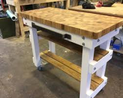 hardware dining table exclusive: exclusive solid end grain oak butchers block baking table