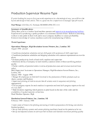 production supervisor resume com production supervisor resume to inspire you how to create a good resume 19