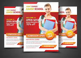 5 school education flyers bundle flyer templates on creative market school education flyers template