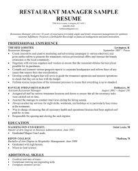 manager food restaurant resume example contemporary   seangarrette c ager