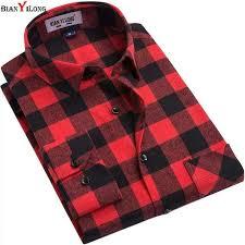 <b>BIANYILONG Brand</b> Men Plaid <b>Shirts</b> 2019 <b>New</b> High-quality Long ...
