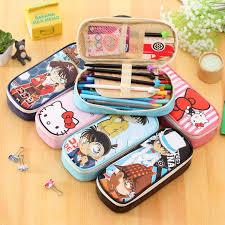 Cartoon school pencil case Kawaii <b>hello kitty pu leather</b> big capacity ...