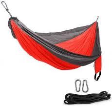 <b>Camping Hammock</b> Single Double Nylon Parachute Adjustable ...