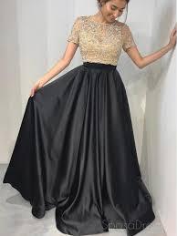 black a line evening dresses