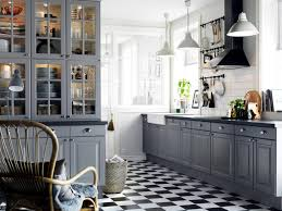 Gray Tile Kitchen Floor Floor Tile Patterns Kitchen This Darker Grout Works Because It