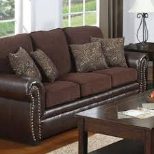 the perfect blend of cloth studs and leather idea for upholstering our couch seat cushions cheyanne leather trend sofa