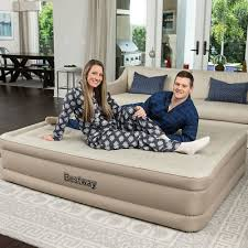 <b>Bestway Queen Comfort Elevated</b> Airbed with Built-In Pump   eBay