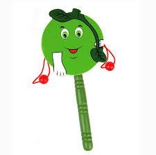 Baby <b>Kids Wooden Cartoon</b> Animals Handbell Rattles <b>Toys</b> ...