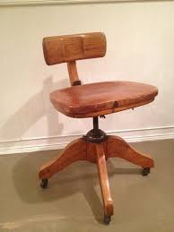 antique murphy office desk banker chair tiger oak solid wood swivel reclining adjustable on wheels vintage antique swivel office chair