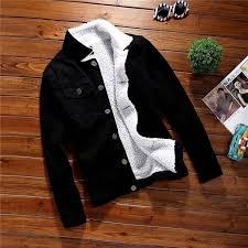 <b>ZOGAA 2019</b> New Men Fashion <b>Wool</b> Thick Warm Denim Jacket ...