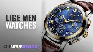 10 Best Selling <b>LIGE Men</b> Watches [<b>2018</b> ]: <b>Men</b> Leather Strap ...