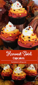 best ideas about fall bake thanksgiving harvest swirl cupcakes