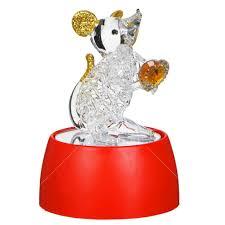 <b>Фигурка декоративная</b> Мышка с сердечком 398-290 с подсветкой ...