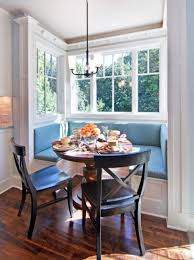 small blue breakfast nook breakfast nook table