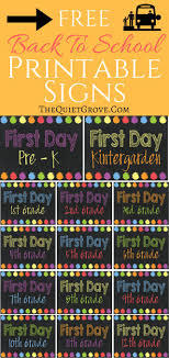 best ideas about school days school scrapbook 5 back to school printable sign sets
