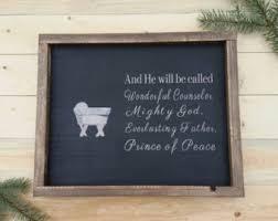 wooden nativity sign christmas decor manger scene